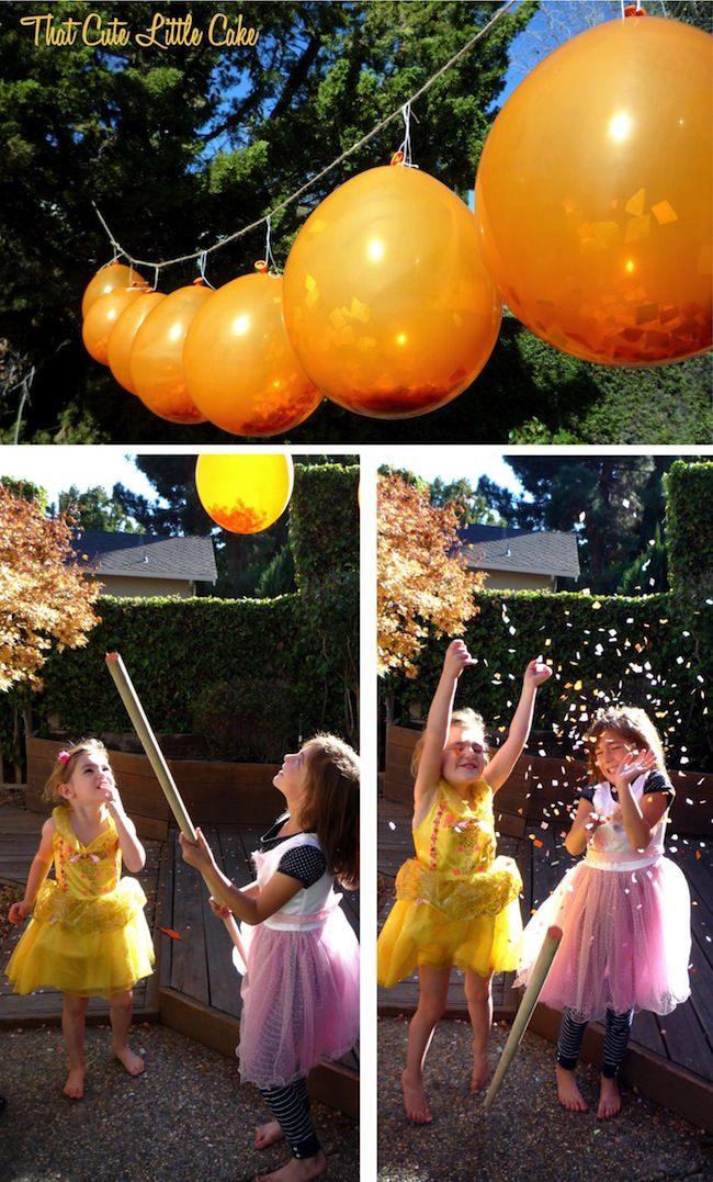 Confetti in balloons--the kids hit them with a stick with a cocktail stick on the end--could be pixie dust