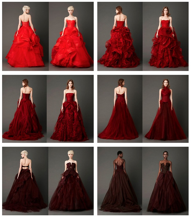 Dahlia Crimson Vermilion Cardinal Is The Color Palette For Vera S Spring 2017 Collection And It Breathtaking Always Presen