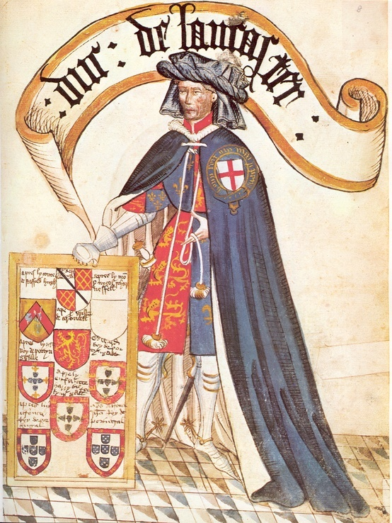 John of Gaunt, Knight of the Order of the Garter, Duke of Lancaster. He was very tall.