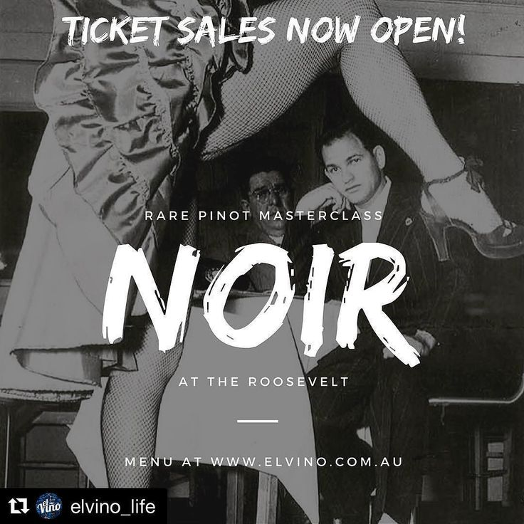 #Repost @elvino_life with @repostapp  SPECIAL INVITE: Calling all Pinot Noir and wine lovers in Sydney! El Vino is teaming up with The Roosevelt to present NOIR - THE grand Pinot Noir event of the year you will not want to miss! 6 world-class wines with 6 delectable dishes by Head Chef Adam Lord. Join us on 26 Oct at the Roosevelt. Early bird tickets now open! Get them before they sell out! For more info click on the link in our bio @therooseveltbaranddiner #elvinopinot #pinotnoir #pinot…