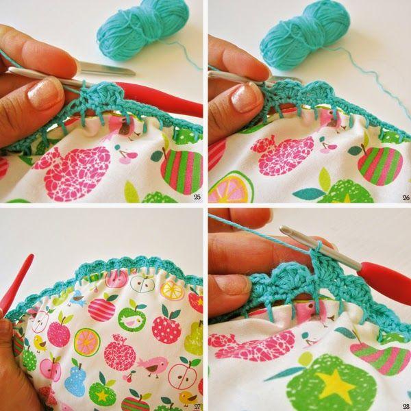 Tutorial cojín redondo Con Crochet Edge