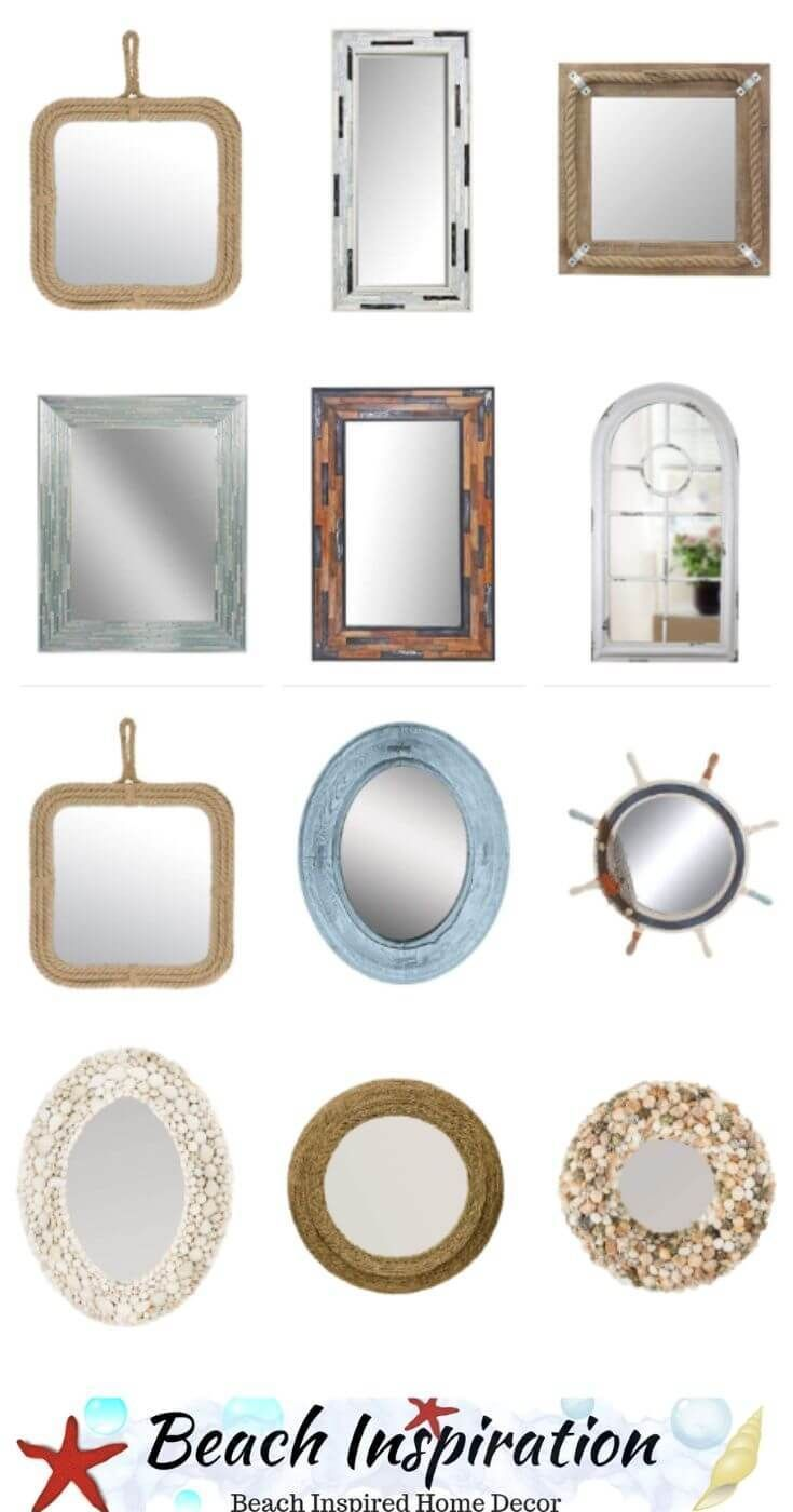 15 Beach Themed Coastal Mirrors For Your Home Beach House Decor Bedroom Beach Bedroom Decor Coastal Decorating Living Room