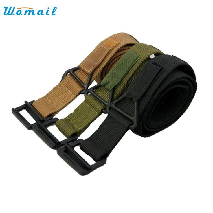 Men Canvas Belt Outdoors Military Strap Male Army Tactical Belts ceinture homme Elegant Nobility New