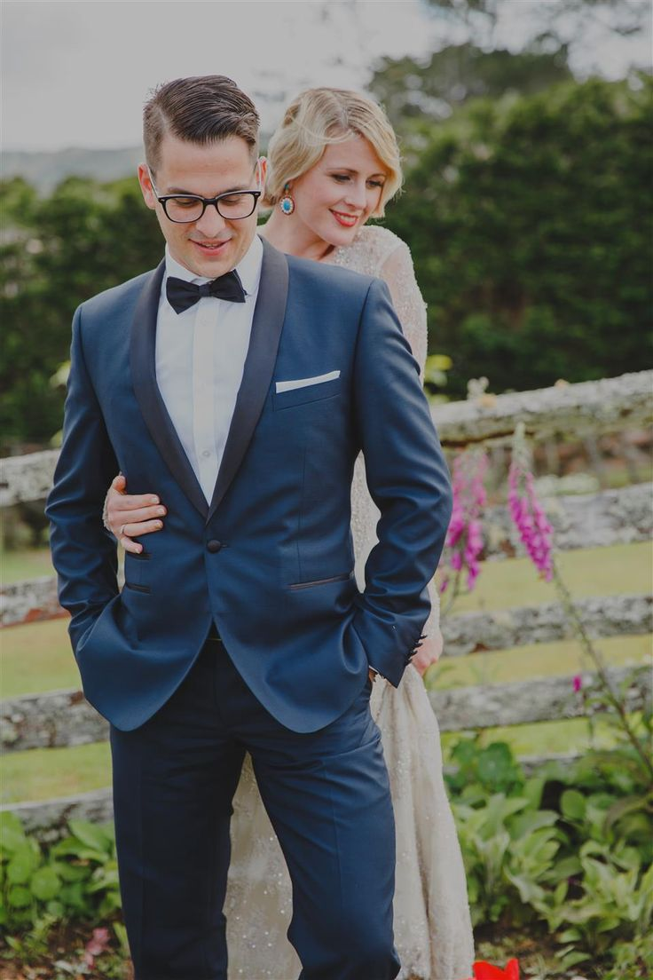 An Elegant Modern Vintage Spring Wedding Men Suitswedding