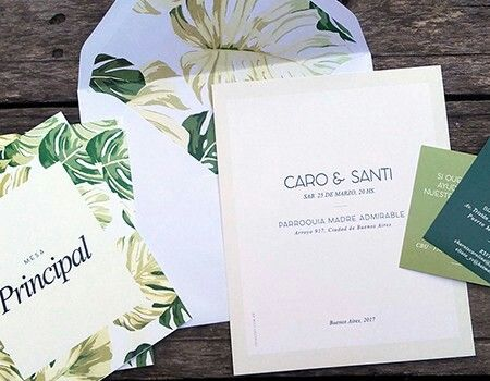 Invitaciones de casamiento MODELO TRÓPICO INTHESKY.COM.AR