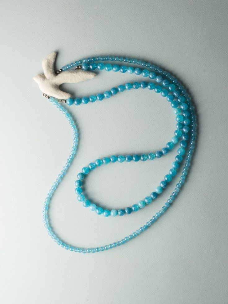 Blue Bird Necklace by Carla Szabo #jewelry #design #necklace