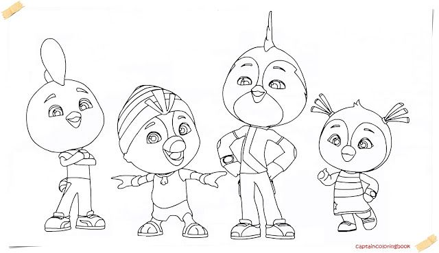 Top Wing New Series Cartoon Coloring Page Cartoon Coloring Pages Coloring Pages Coloring Books