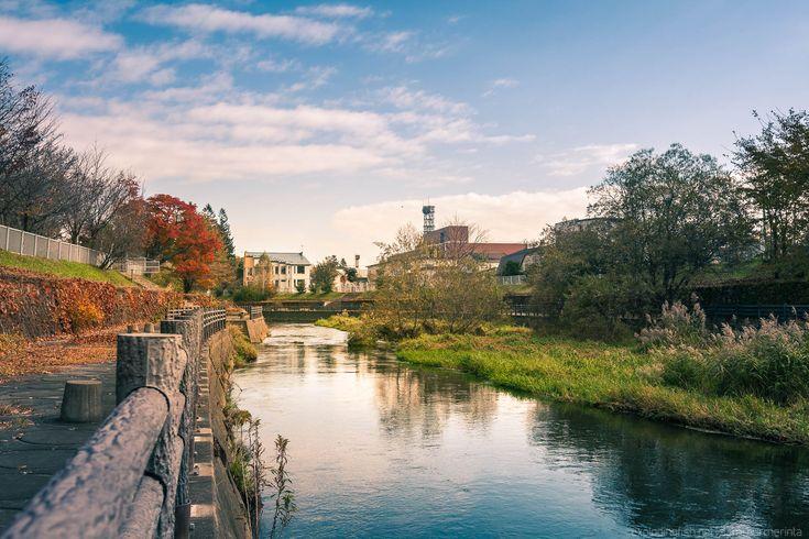 Obihiro River in Obihiro, Hokkaido.   This image was edited with an Adobe Lightroom preset bundle I was reviewing.  #japan #hokkaido #obihiro #landscape #cityscape #wanderlust
