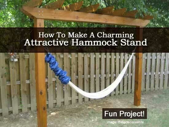 Hammock stand and hammocks on pinterest - How to make hammock at home ...
