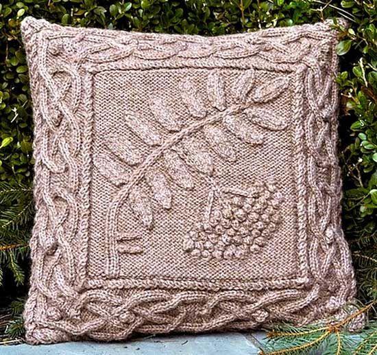 Celtic Rowan Pillow/ Pattern/ Celtic Botanical Knits