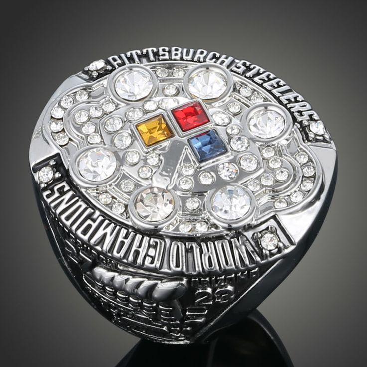 卸売ファッション熱い販売ヨーロッパとアメリカのレプリカリングnfl 2008ピッツバーグ·スティーラーズのスーパーボウルチャンピオンリングj02036