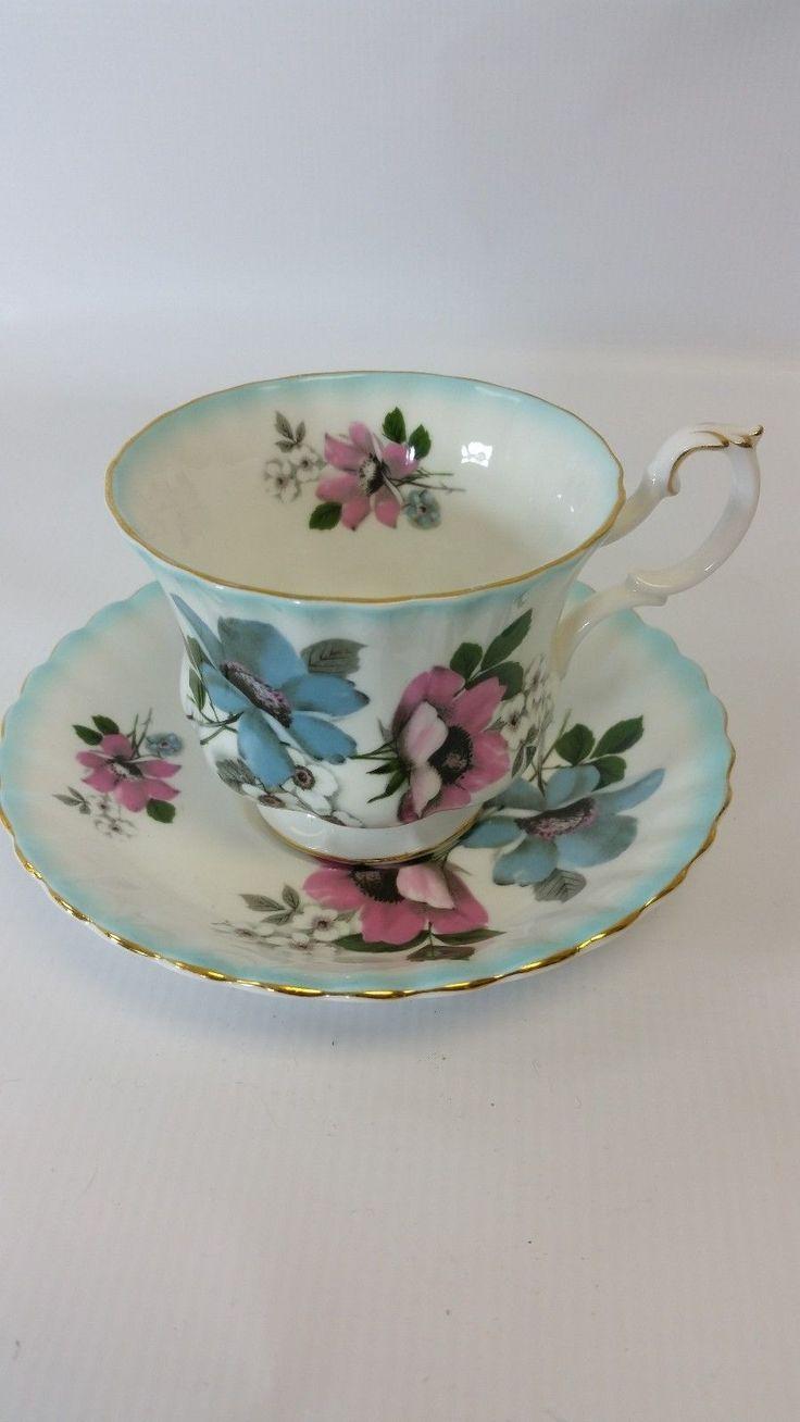 Royal albert bone china tea cup amp saucer winsome pattern ebay - Royal Albert Tea Cup And Saucer In Pottery Glass Pottery China China