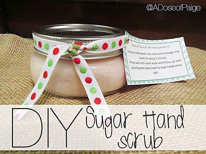 DIY Sugar Hand Scrub. Tutorial by A Dose of Paige