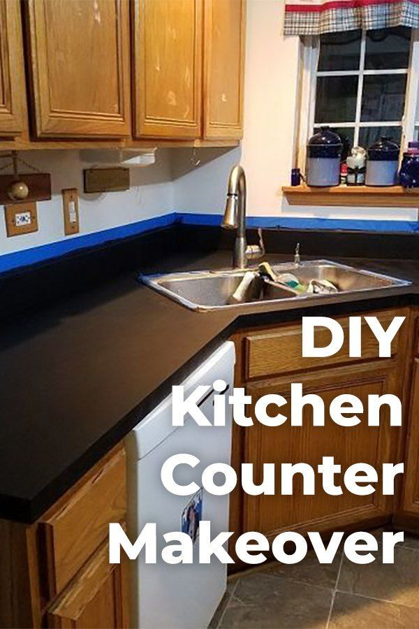 How To Paint Kitchen Counter Makeover Diy Kitchen Remodel