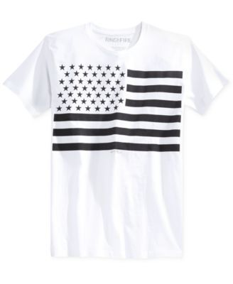 Ring of Fire Men's American Flag Graphic-Print T-Shirt