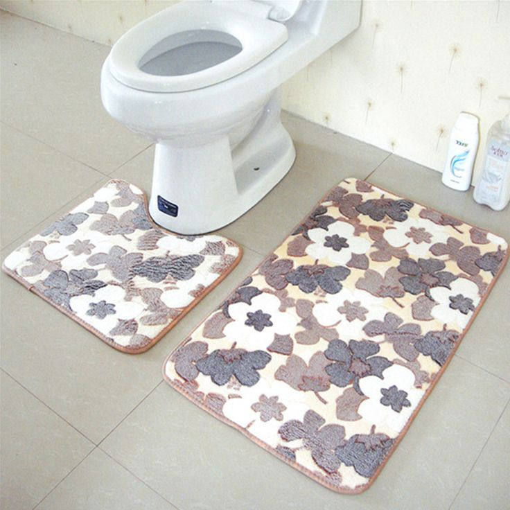 bath and toilet mats. 2pcs/set pvc bathroom bath pedestal mat bathmat toilet non-slip soft washable floor and mats c