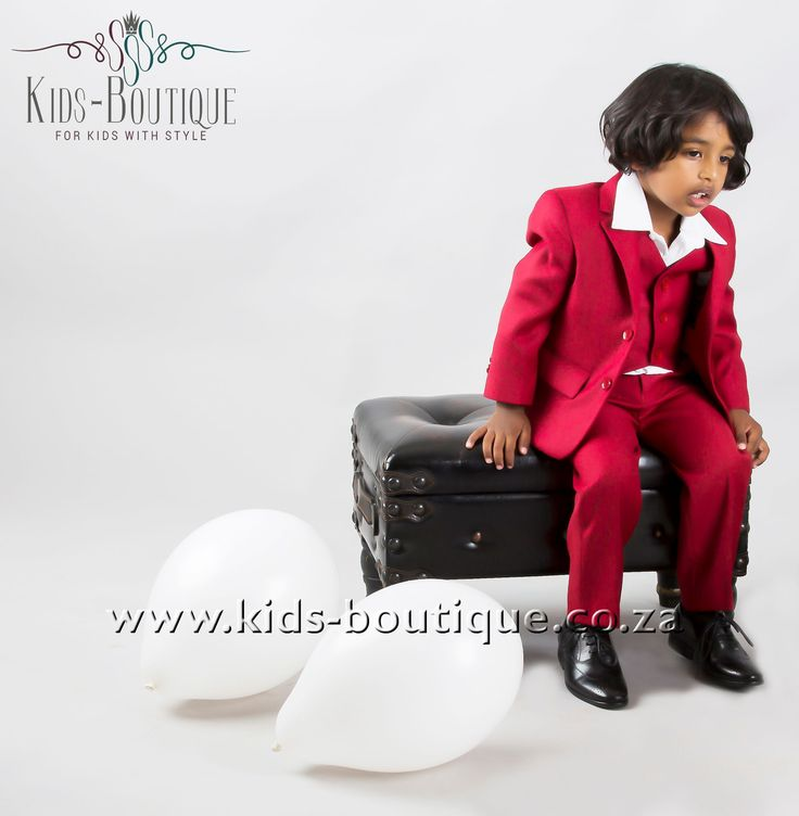 3 Piece Plain Red Suit