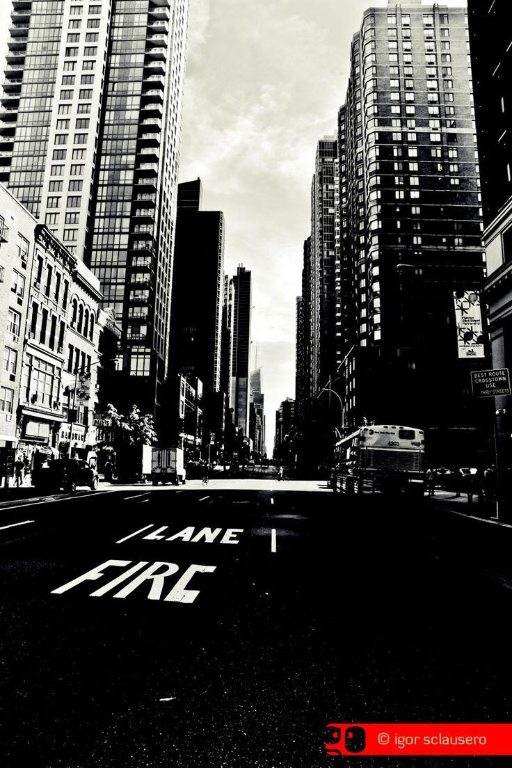 lane on fire  © Igor Sclausero #manhattan #newyork