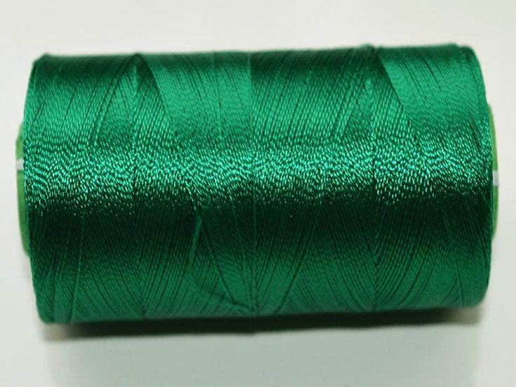 Hilos para bordar - Verde esmeralda Seda Carrete de hilo, seda del art - hecho a…