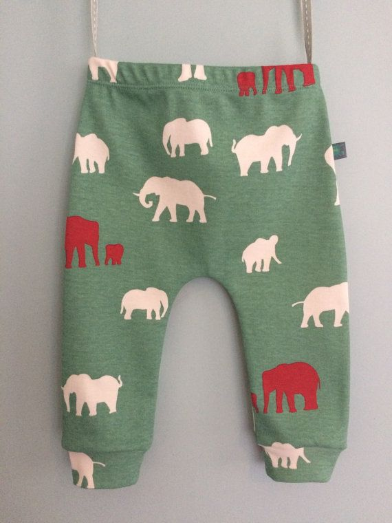 baby leggings, organic baby clothes, boy leggings, girl leggings, baby trousers, baby pants, safari elephants, baby gift, newborn baby