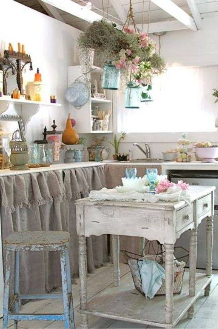cool Shabby Chic Kitchen Decorating Ideas