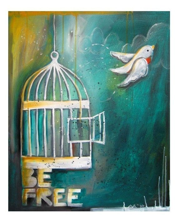 I hate the thought of bird cages, so I love this image.