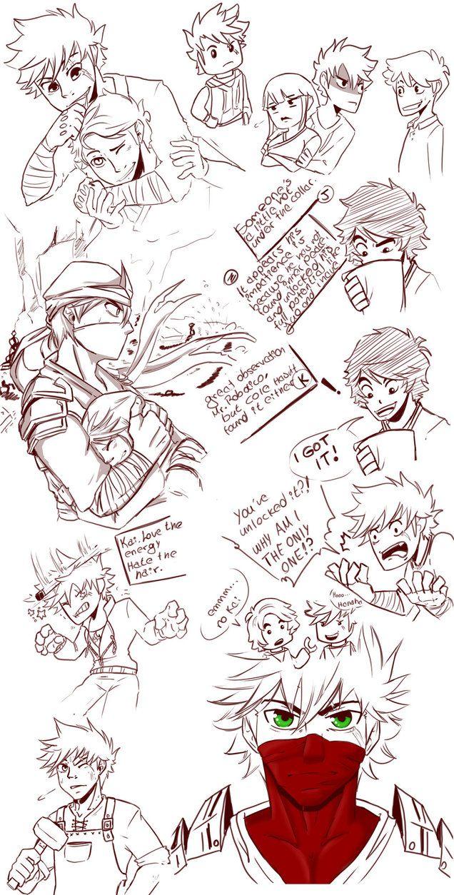 Kai Ninjago _ Doodle 04 by TaleDemon.deviantart.com on @DeviantArt