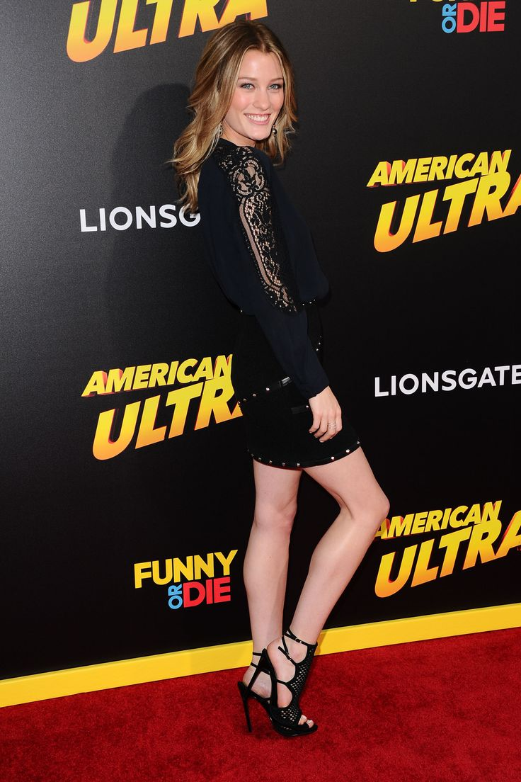 Ashley Hinshaw arrives at the Premiere Of Lionsgate's 'American Ultra' at Ace Theater Downtown LA on August 18, 2015 in Los Angeles, California.