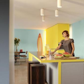 25 beste idee n over gele keuken verf op pinterest gele keukenmuren gele keukens en gele - Verf keuken lichtgrijs ...