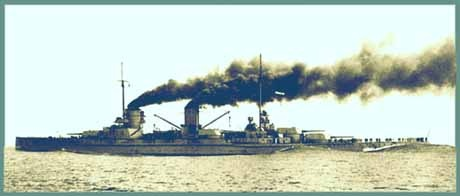 Yavuz Sultan Selim (ex- SMS Goeben) who helped bring the Ottoman Empire into WW I on the German side. Yavuz served until 1971 in the Turkish Navy when sold for scrap.