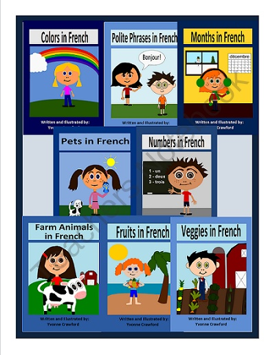 French for Kids Bundle 1 product from Yvonne-Crawford on TeachersNotebook.com