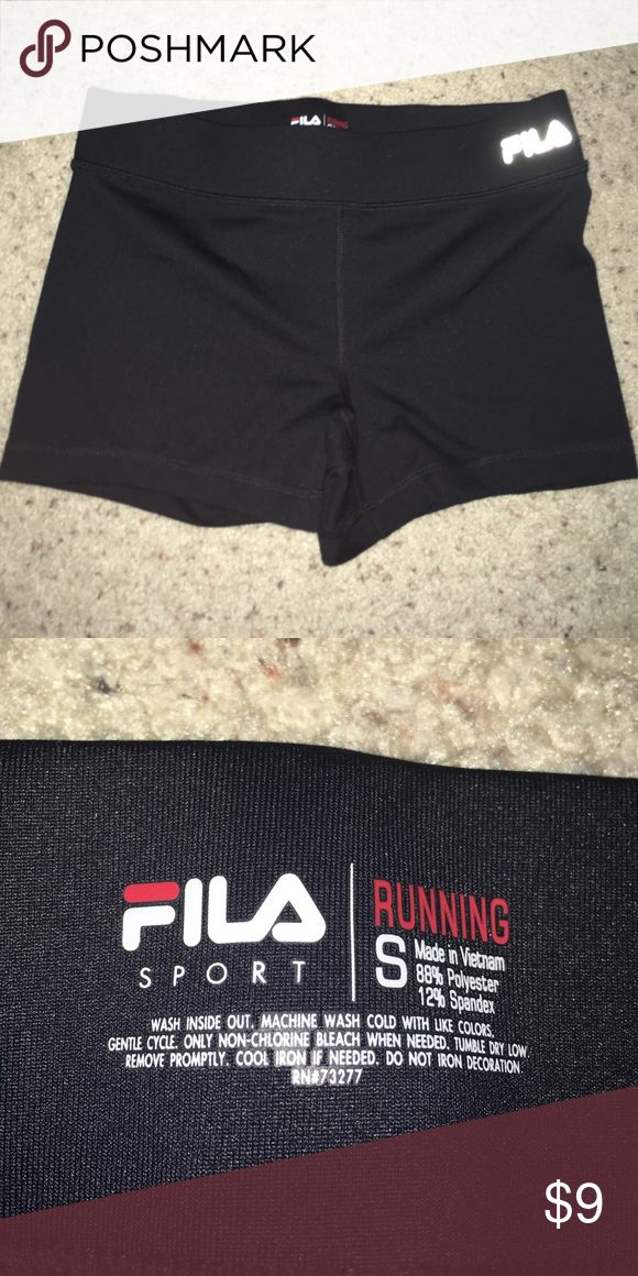 Black Fila compression shorts Size small and worn once! Fila Shorts
