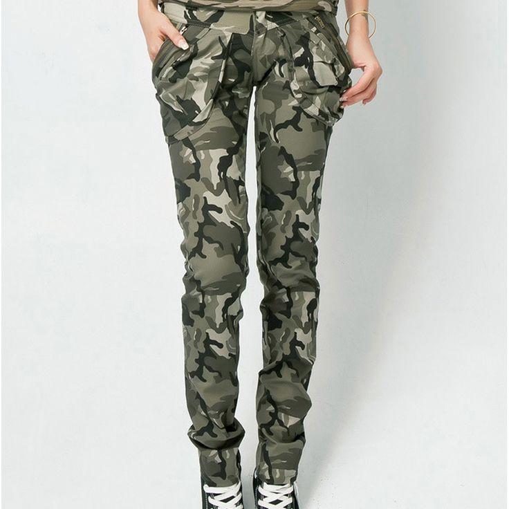 Resultado de imagen para pantalones camuflados para mujer