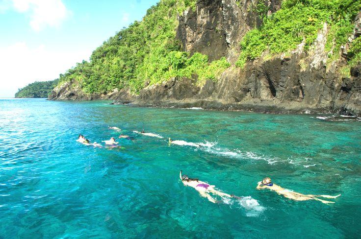 Snorkelling at Qamea, Fiji