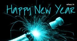 Happy New Year  Animated GIF Images Free Download And Black Background Nice