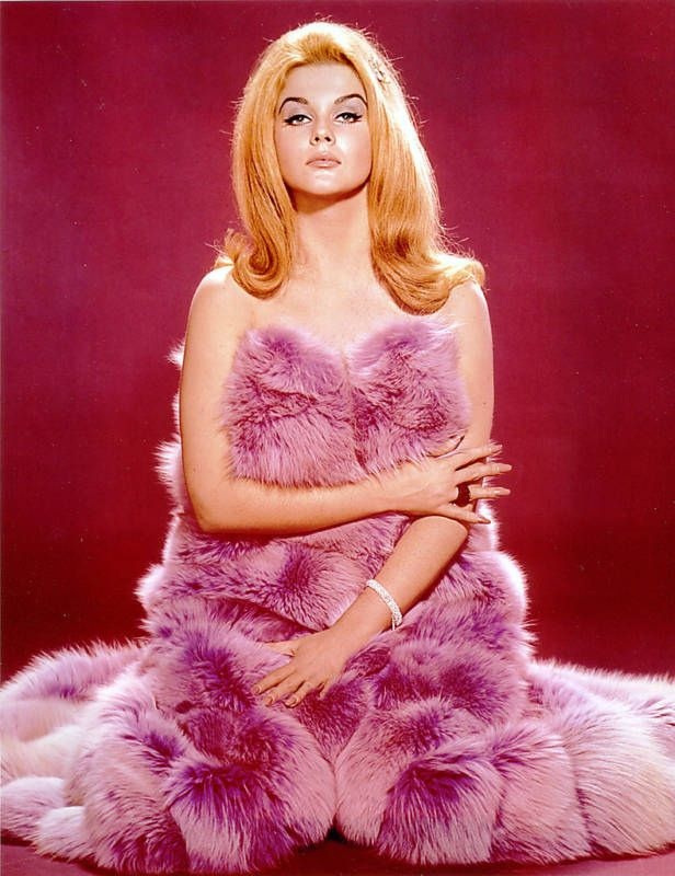 ann margaret. Not sure if its a coat or a blanket but I want one !Vintage fur