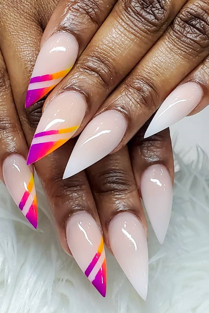 48 Stylish And Beautiful Summer Nails Ideas And Design In 2020 Page 45 Of 48 Womensays Com Women Blog In 2020 Summer Nails Nail Extensions Acrylic Nail Designs Summer