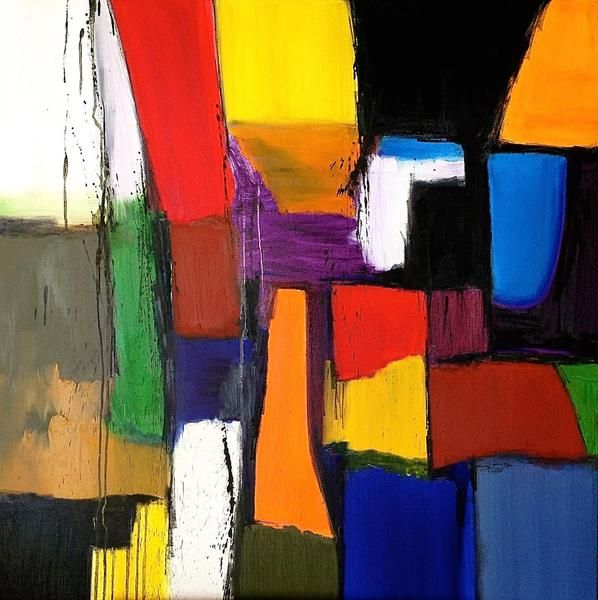 Colourful Abstract by local artist Kali
