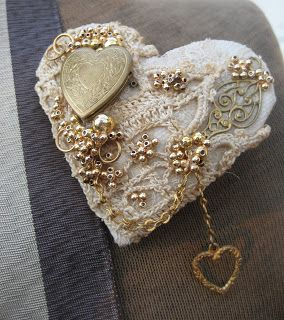This sweet heart was hand made by Pam Murray
