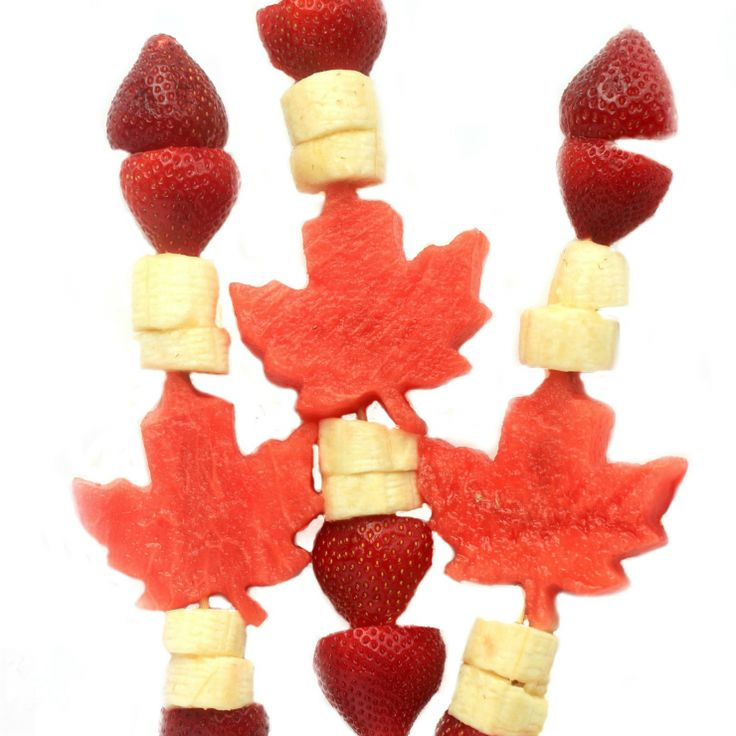 Celebrate Canada Day with this fun and healthy patriotic Canada Day Fruit Kabobs. They are super easy to put together and everyone will love eating them.