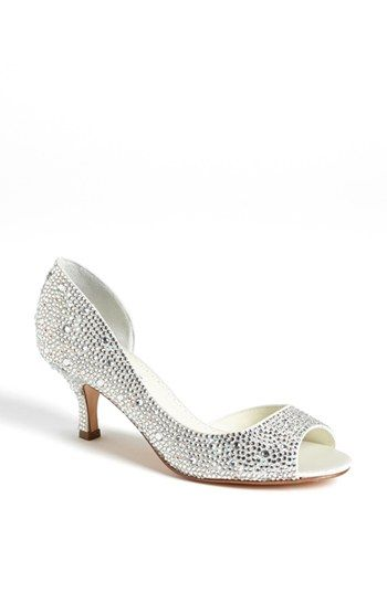 Divine  D Orsay Pump  Low Heel Wedding ShoesBridal  18 best images about Wedding shoes on Pinterest   Satin  . One Inch Heel Wedding Shoes. Home Design Ideas