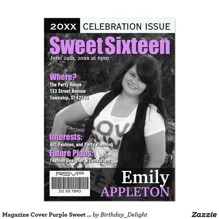 Invitations pourpres de sweet sixteen de