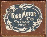 Ford - Historic Logo Metal Tin Sign 16 X 12.5