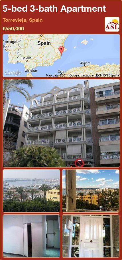 5-bed 3-bath Apartment in Torrevieja, Spain ►€550,000 #PropertyForSaleInSpain