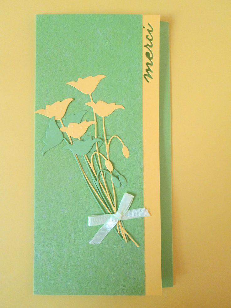 Carte 3 volets de remerciements : Cartes par les-petits-papiers-de-marie