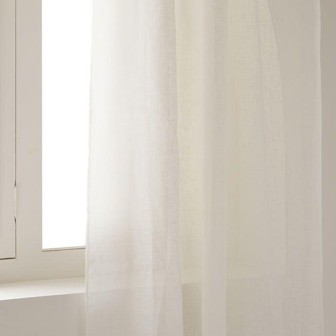 die besten 25 wei e leinenvorh nge ideen auf pinterest wei en vorh nge wohnzimmer vorh nge. Black Bedroom Furniture Sets. Home Design Ideas