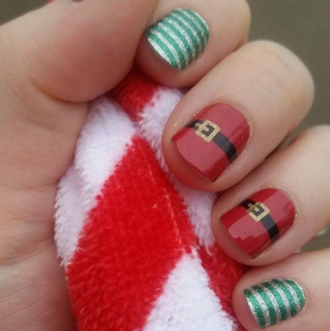 20Ideas brillantes para una manicura navideña
