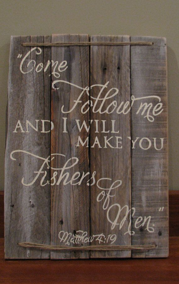 Matthew 419 hand painted pallet wood sign with by WordsofPurpose, $50.00