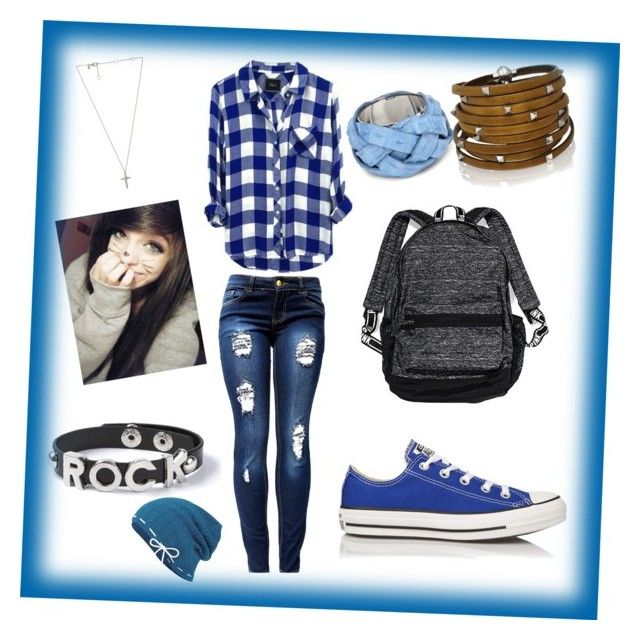 """""""Blue Indie Scene Outfit"""" by xxcasscupcakexx ❤ liked on Polyvore"""