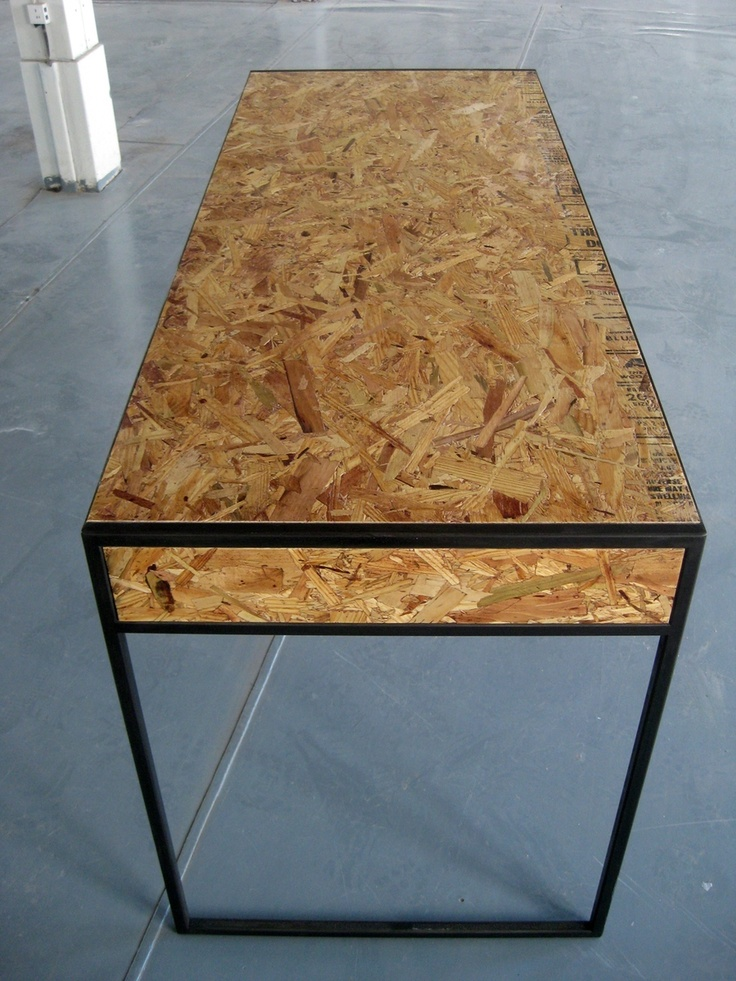 16 best images about o s b on pinterest osb board for Table exterieur osb